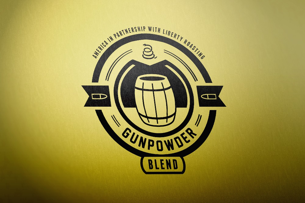 The concept art for the Gunpowder Blend under the company name Liberty Roasting
