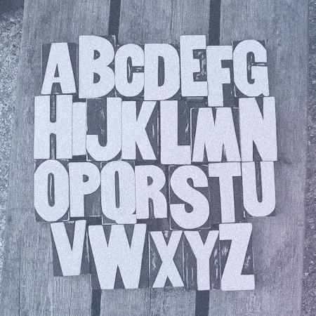 Blocky font lettering