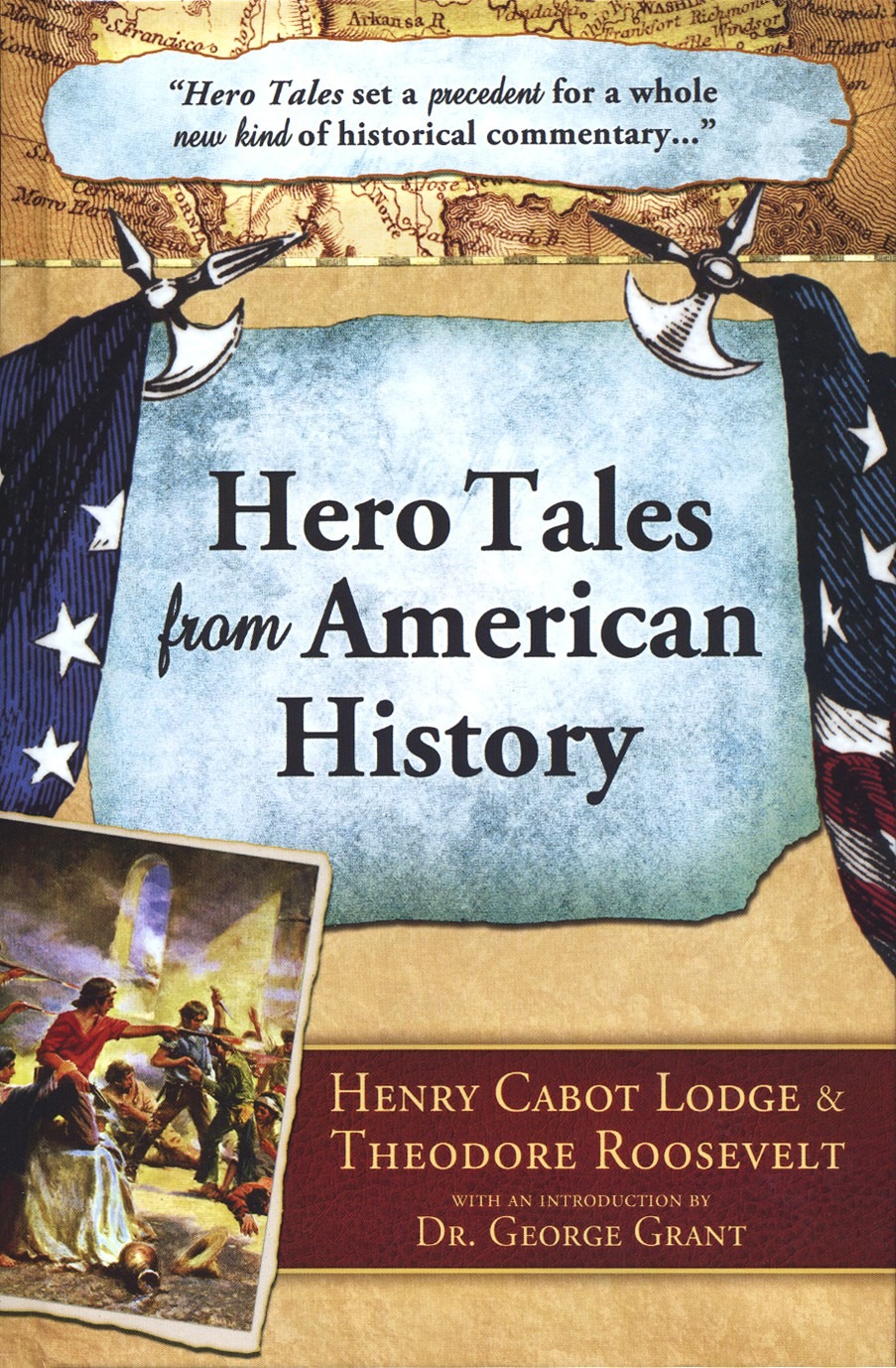 Book cover for 'Hero Tales from American History'