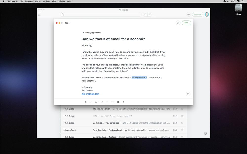 CloudMagic on Mac