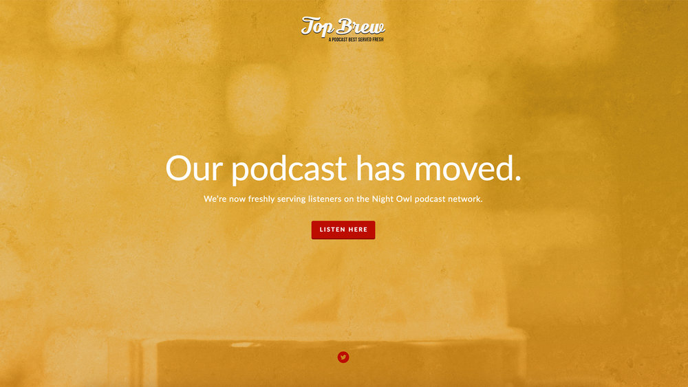 Top Brew podcast has moved.
