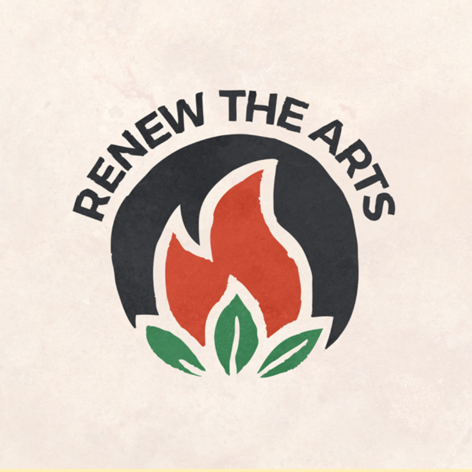 A Renew The Arts logo mockup