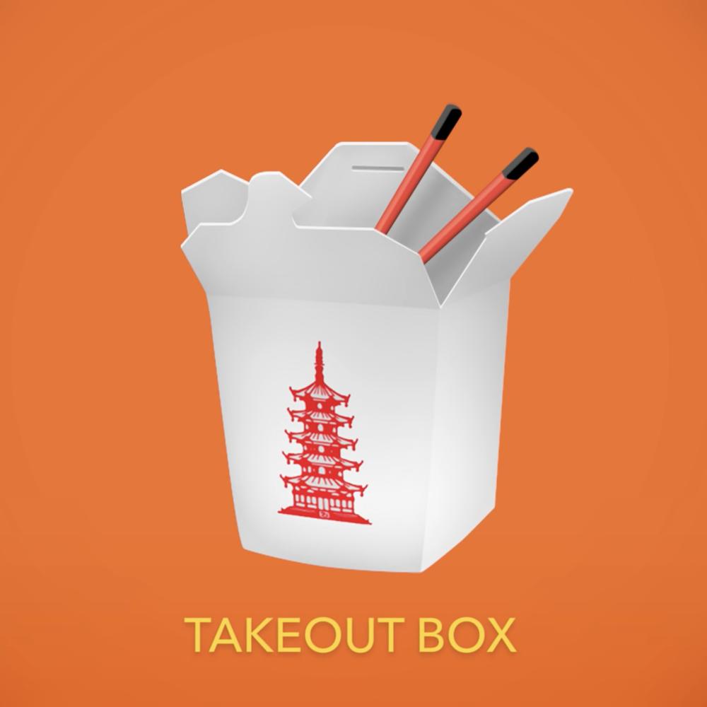 Takeout box, emoji
