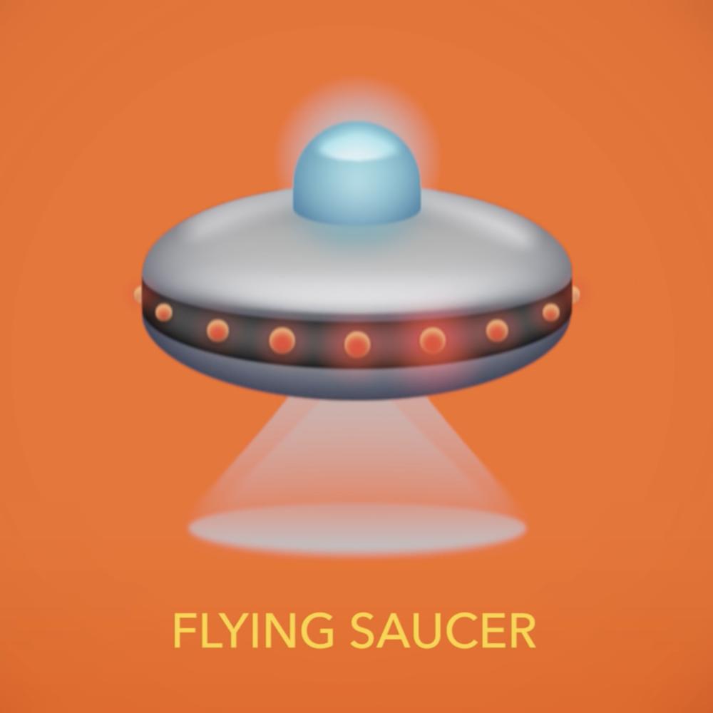 Flying saucer emoji