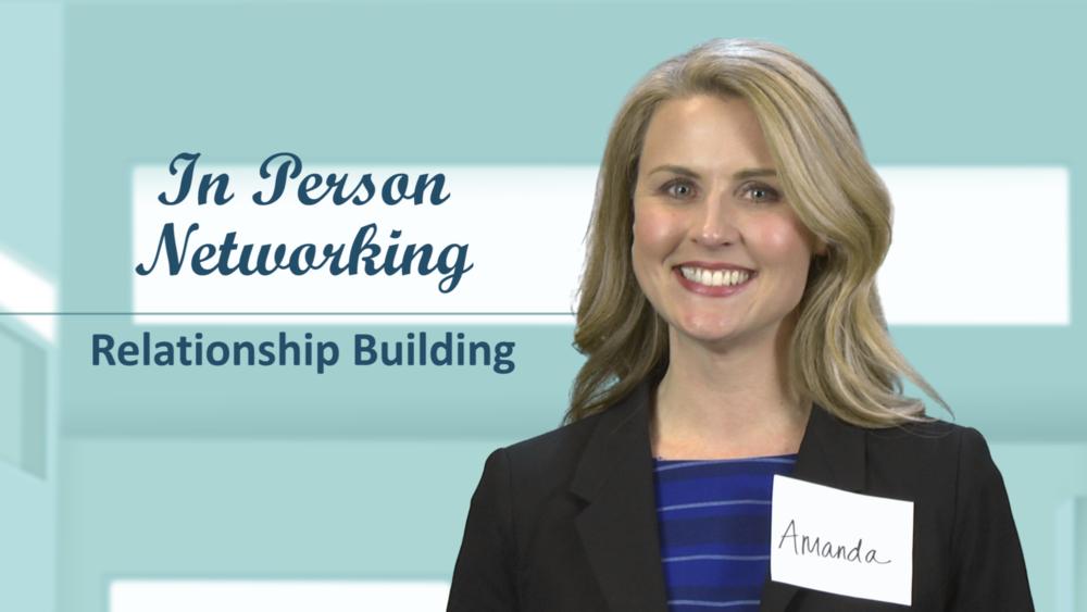 Amanda Hammett in 'In Person Networking' video