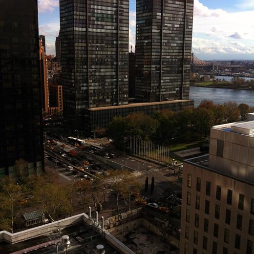 blue skies & traffic 10/31/2012