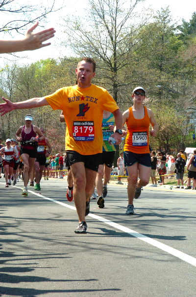 drawing strength from others -- 2012 Boston Marathon