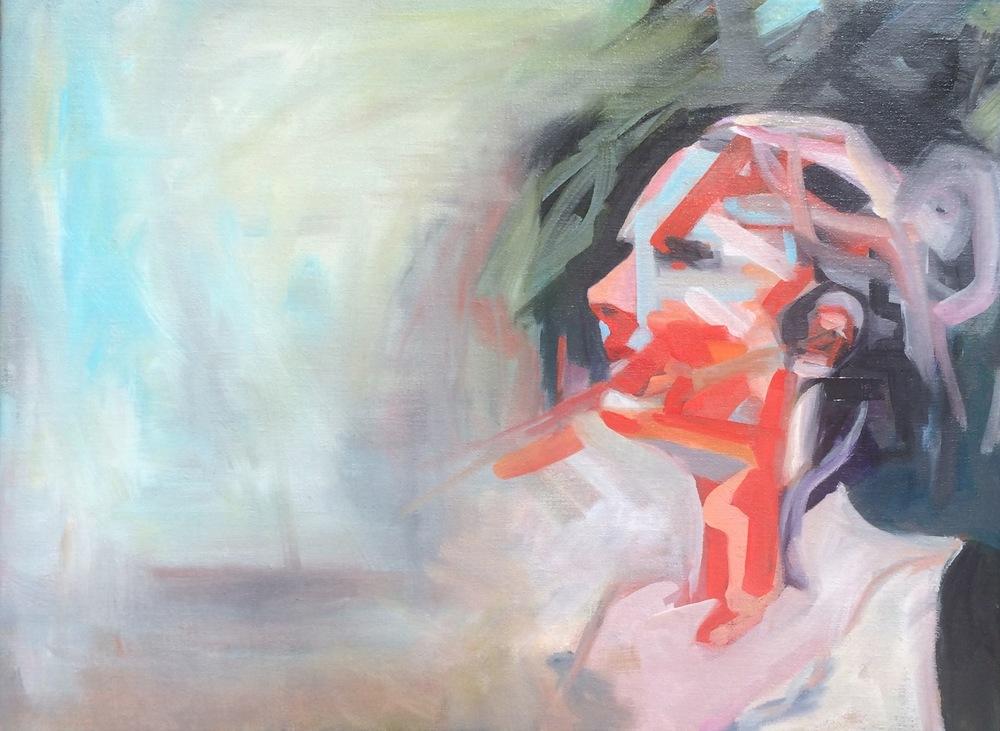 Self Portrait, Oil on Linen, 18 x 24