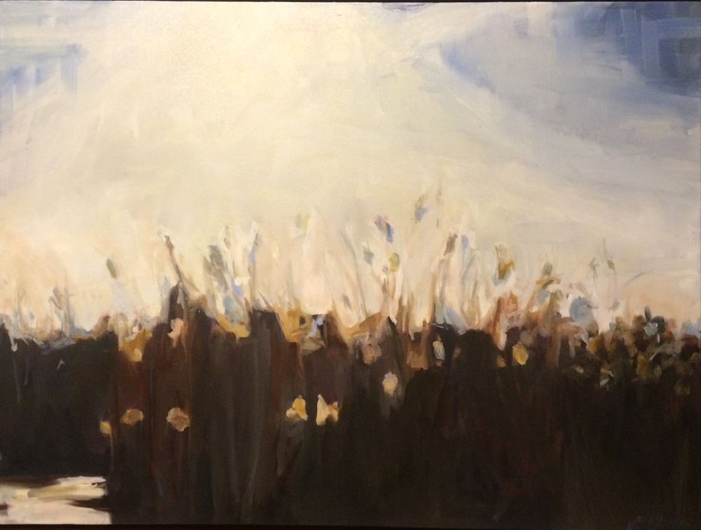 Cattails, 30 x 40, oil on canvas