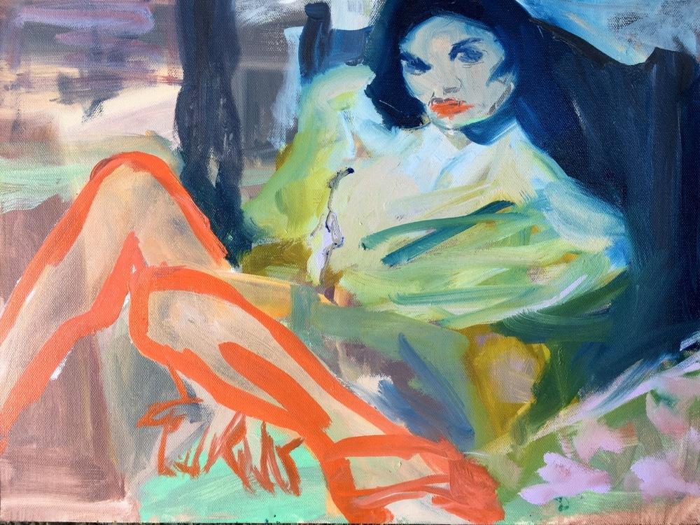 """Femme Forte, Oil on gesso board, 11"""" x 14"""""""
