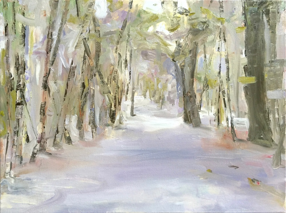 Garnett Woods, Oil on Canvas, 18 x 24