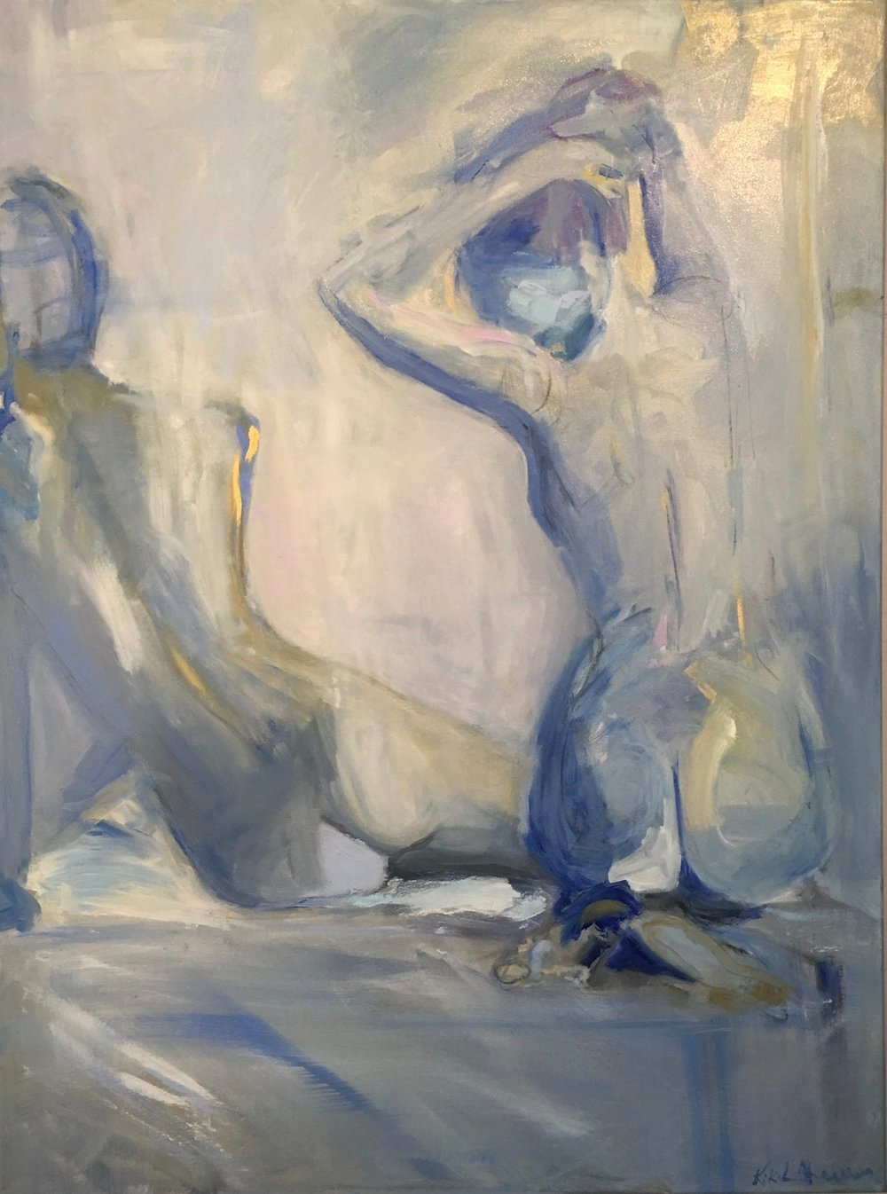 Blue Figurative II, Oil on canvas, 48 x 36