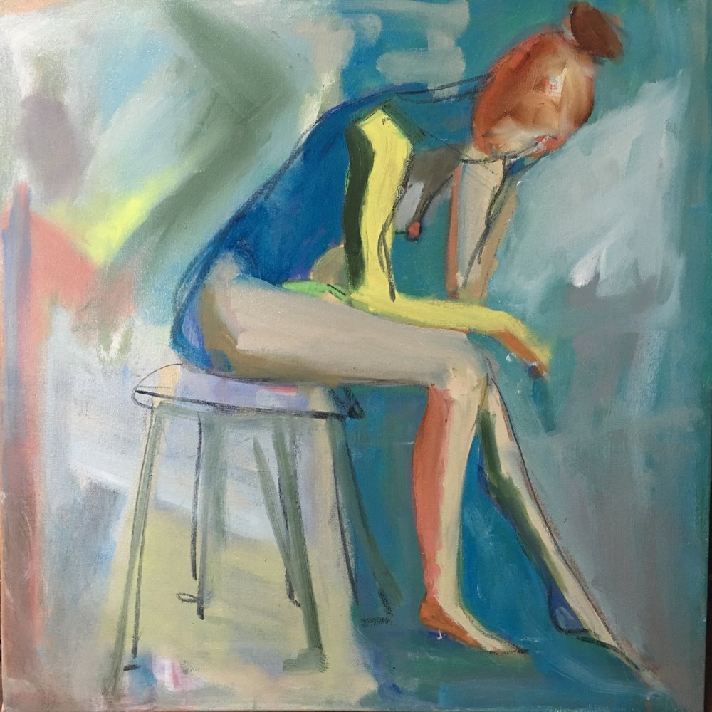 Mustering Moxie, Mixed Media on canvas, 24 x 24