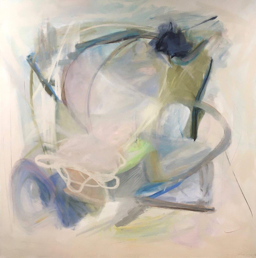 Whistler, Mixed Media on Canvas, 48 x 48