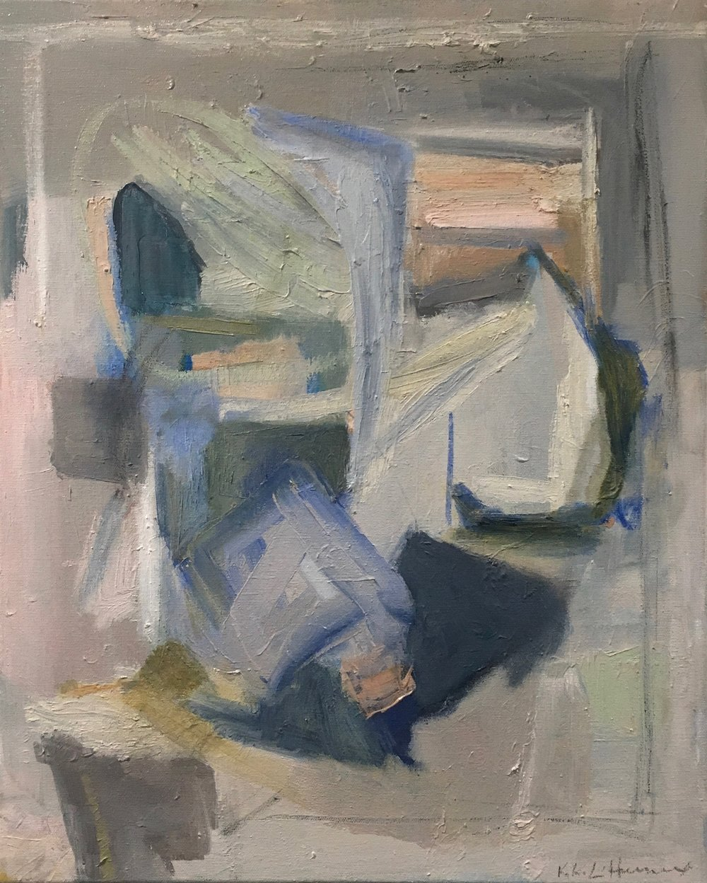 Blu Schuyler, Mixed Media on Canvas, 20 x 16