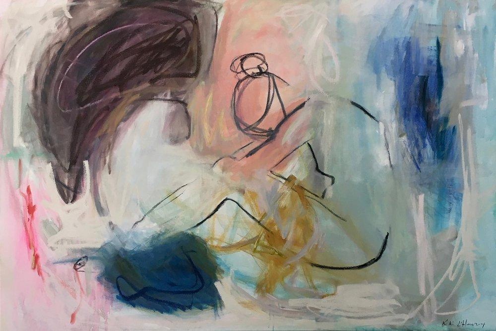 """Mainstay, Mixed Media on canvas, 48"""" x 72"""""""