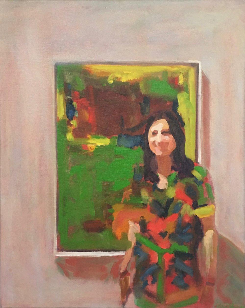 Rati & Hans, Oil on Canvas, 20 x 16