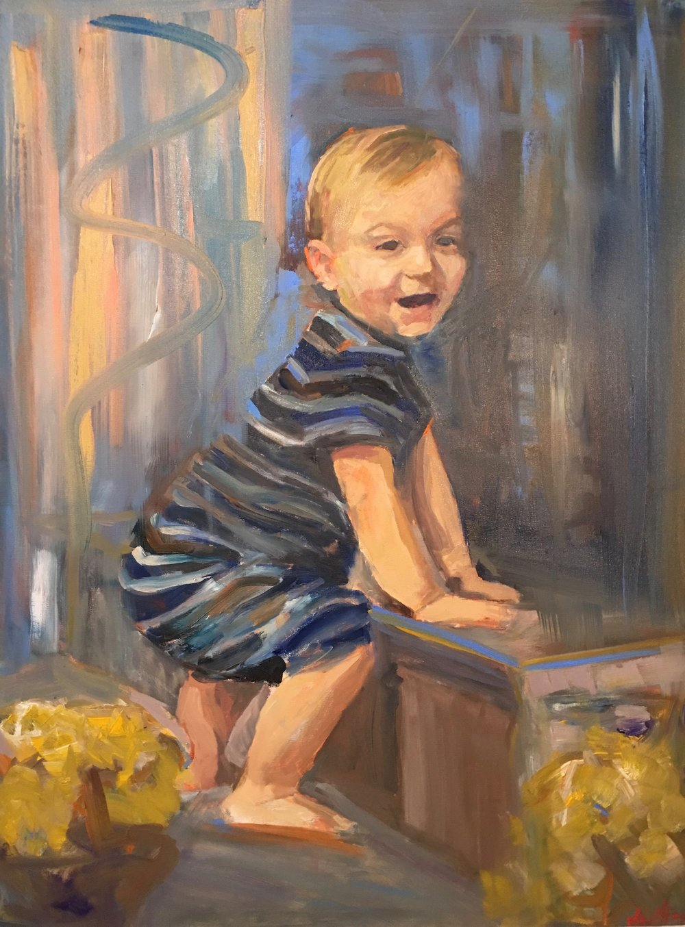 Fitzy, Oil on canvas, 40 x 30