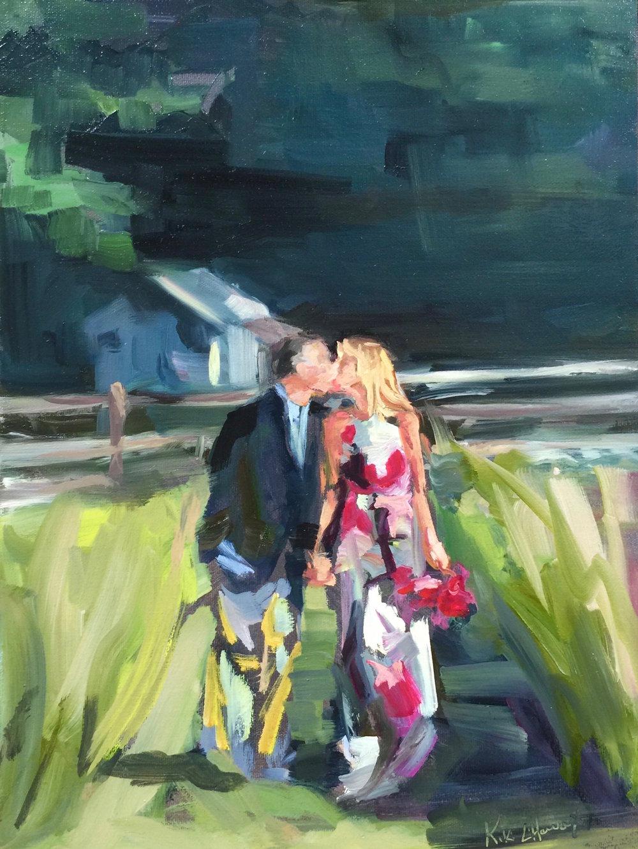 Happy Anniversary, Oil on canvas panel, 16 x 12
