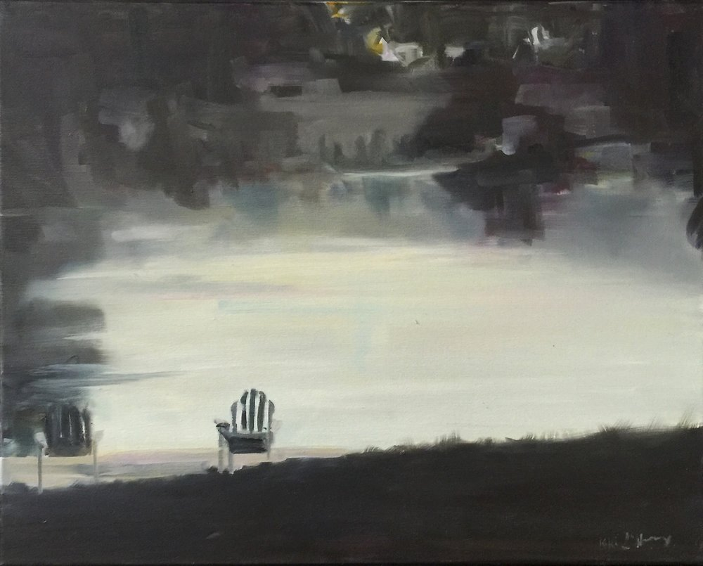 Adirondack Chairs, Oil on Linen, 16 x 20