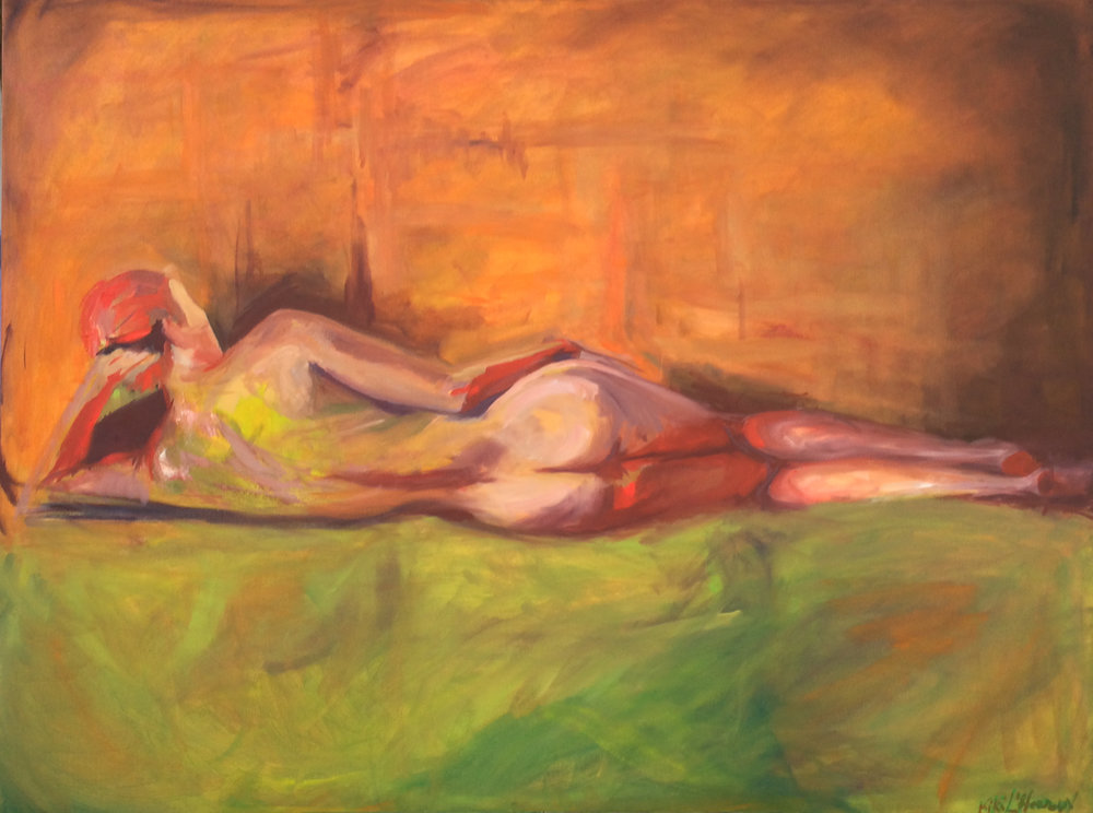 Reclining Nude, Oil on Canvas, 36 x 48