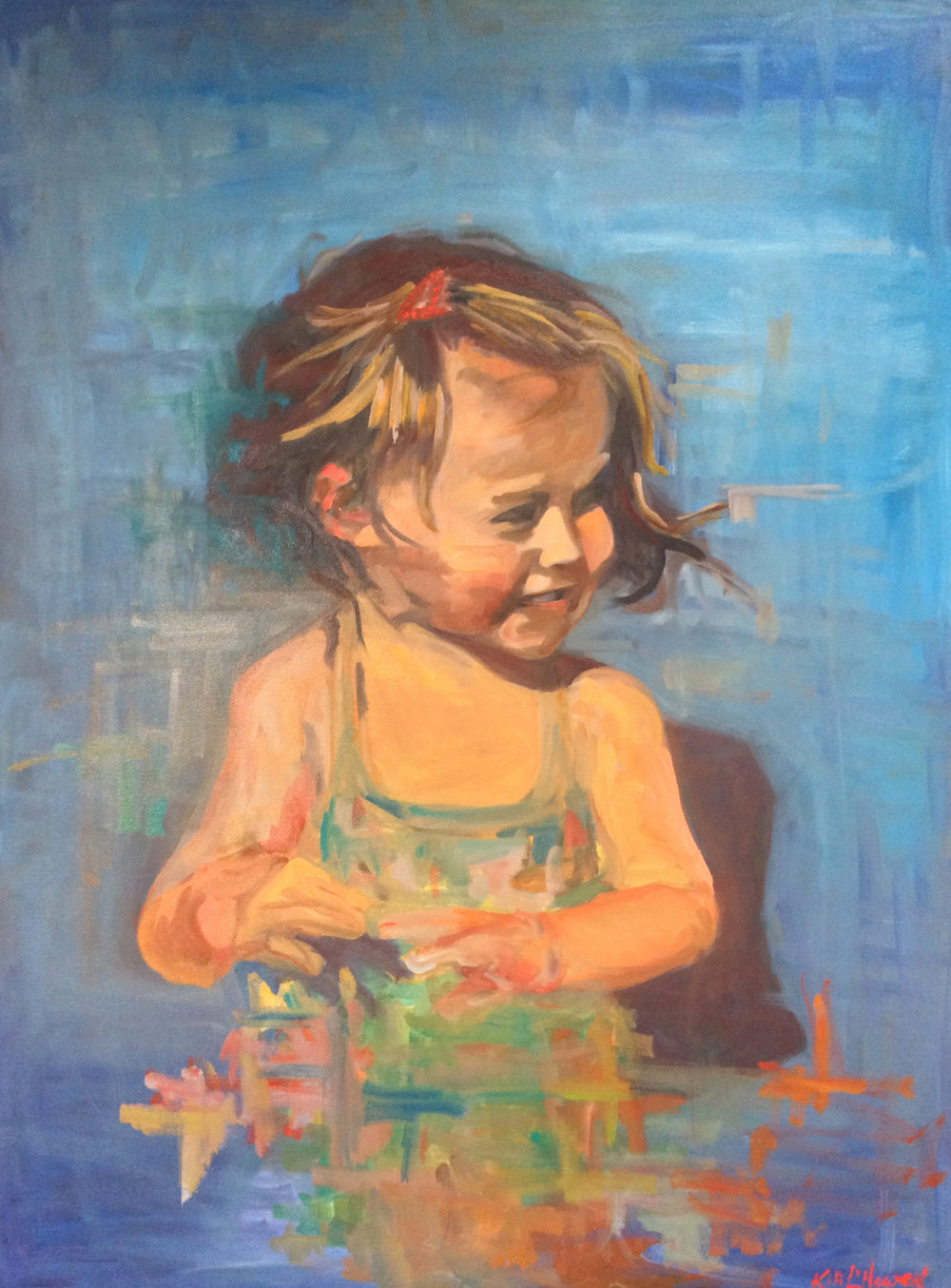 Trixie, Oil on Canvas, 40 x 30