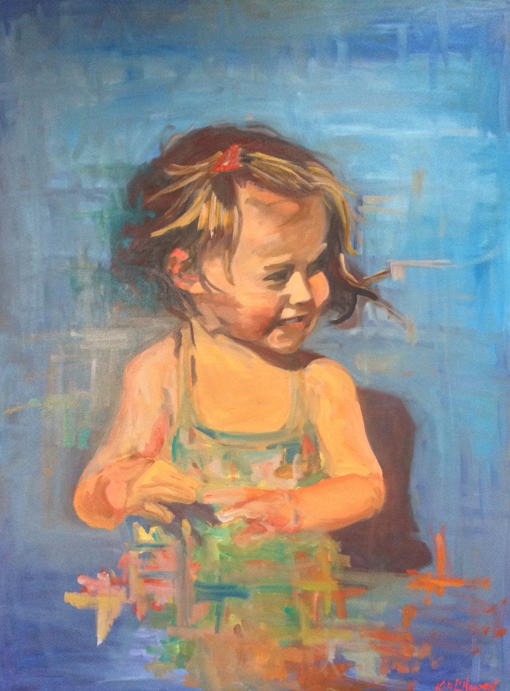Trixie, Oil on Canvas, 40 x 30