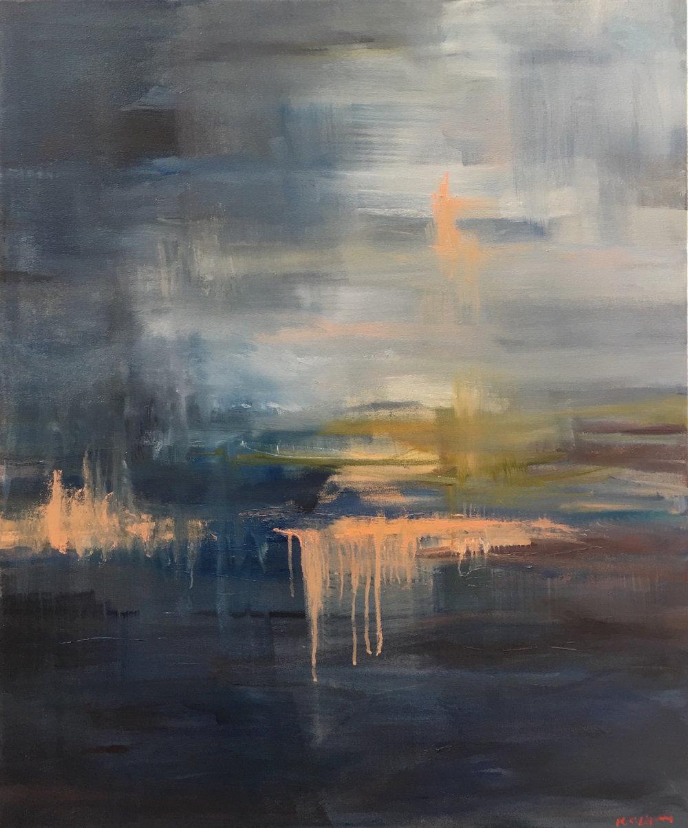 Stormy Horizon, Oil on canvas, 34 x 30