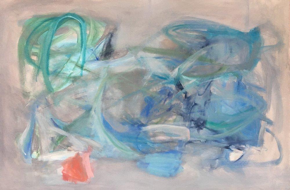 Wellfleet III, mixed media on canvas, 24 x 36