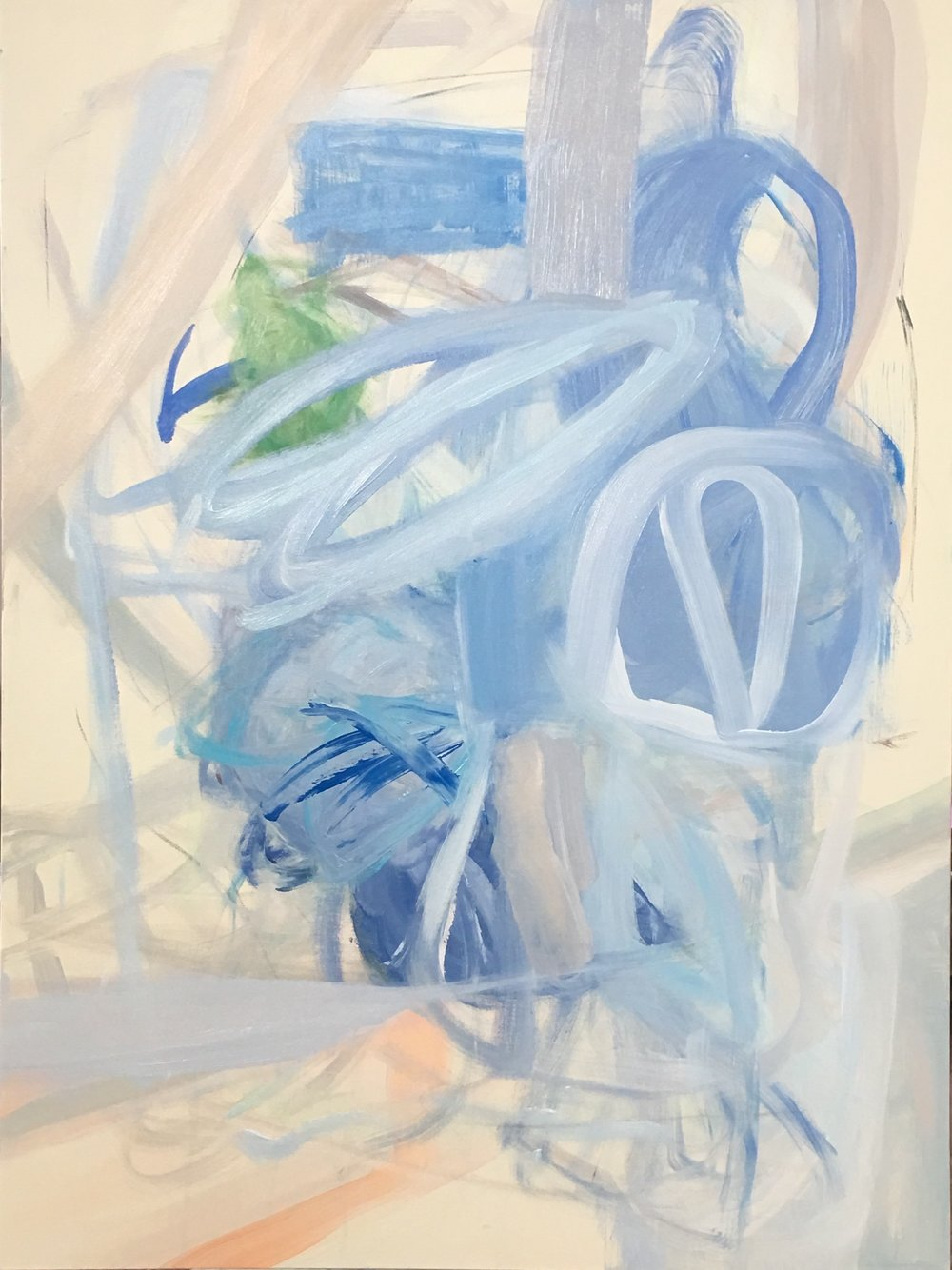 Provenance, mixed media on canvas, 48 x 36