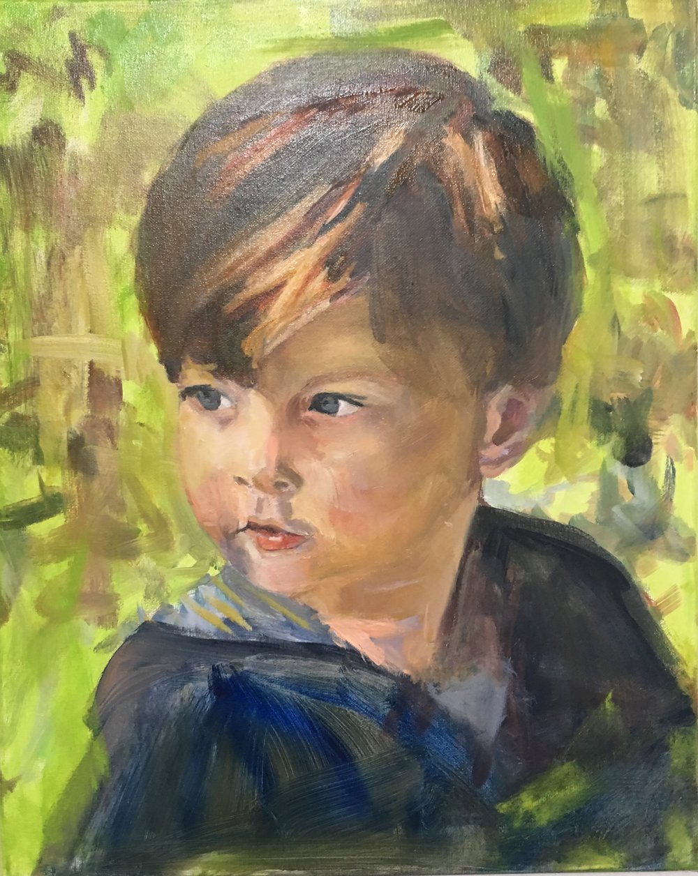 William, Oil on canvas, 20 x 16