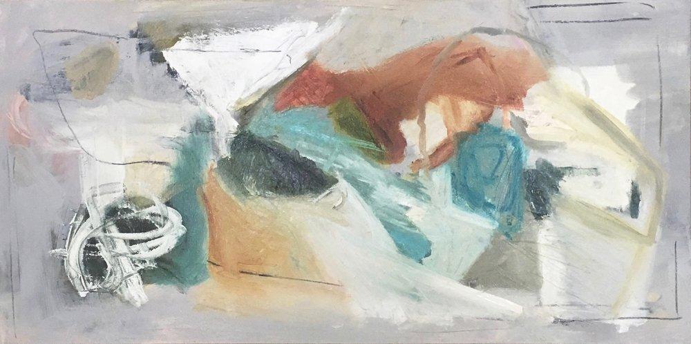 Connexion, Mixed Media on Canvas, 24 x 48