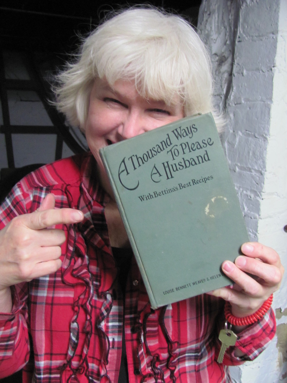 Linda Herron with book