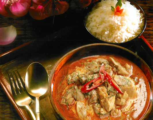 Delicious: Our Thai Penang Curry with Jasmine Rice