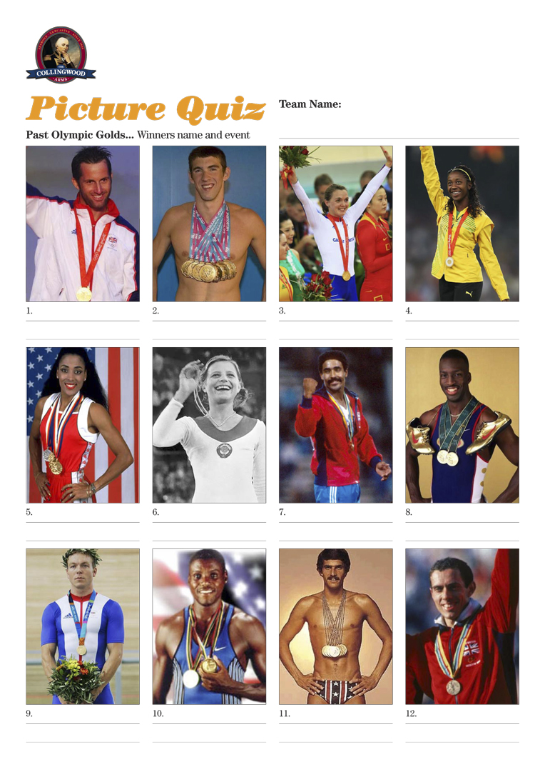 Picture Quiz: Past Olympic Golds