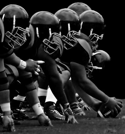 25. In which sport would you find a Bomb, a Blitz and a Shotgun?  American Football