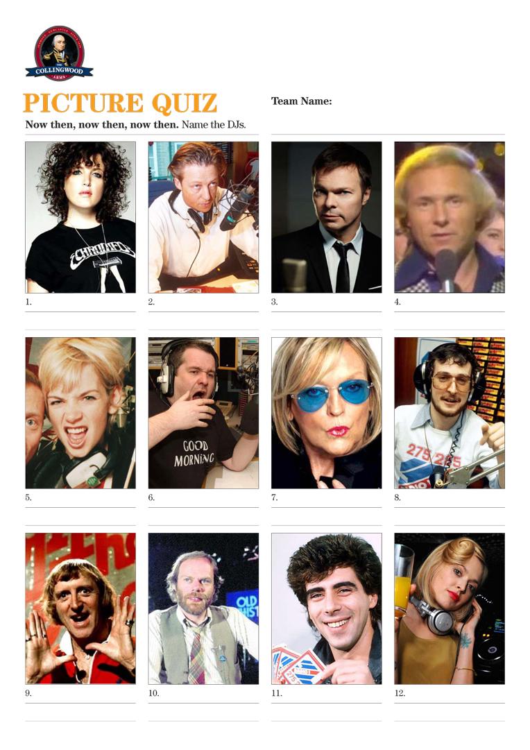 Picture Quiz: Name the DJs