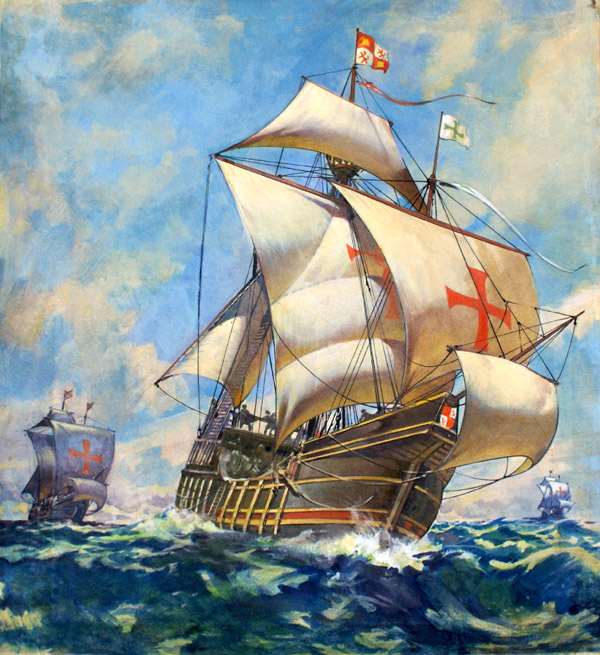 1. Who sailed in a voyage of discovery on the Santa Maria?  Christopher Colombus
