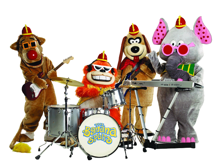 40. Fleegle, a floppy eared beagle with a firemans helmet, Bingo, an orange gorilla with shades, Drooper a Texan lion and a keyboard playing elephant called Snorky. Who were they?  The Banana Splits
