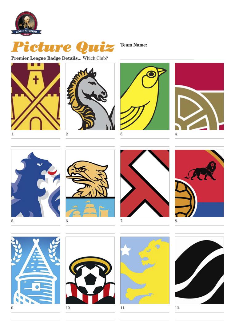 Picture Quiz: Details of Premier League Club badges.