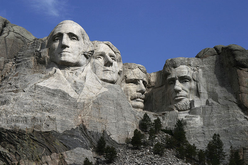2. How many heads of US presidents are carved into Mount Rushmore?  Four