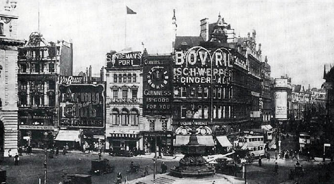 10. What drink was promoted by Britain's first neon advertising sign in Piccadilly Circus in 1909?  Bovril