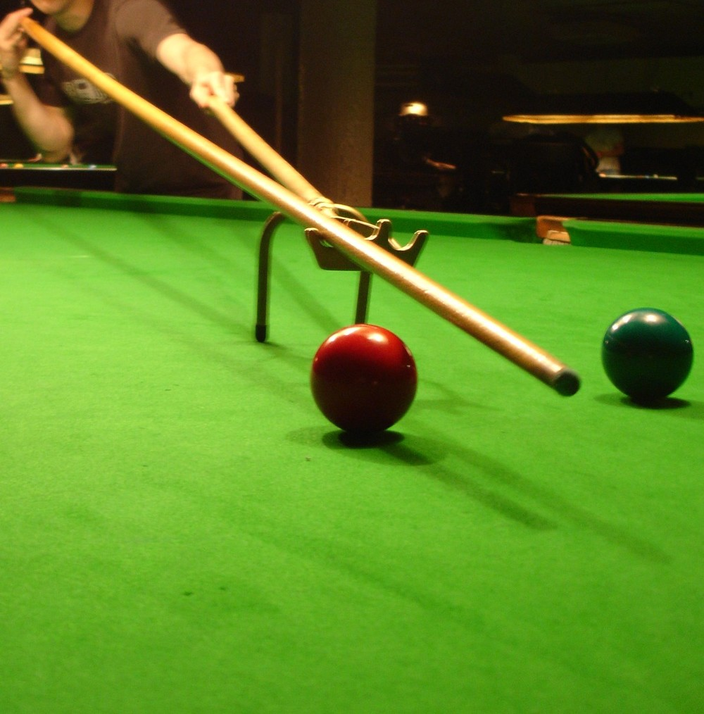 23. What sport uses equipment called the spider, the swan and the triangle? Snooker