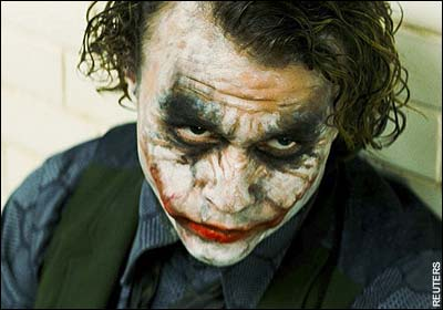 33. Which villain does Heath Ledger play in 'The Dark Knight'? The Joker