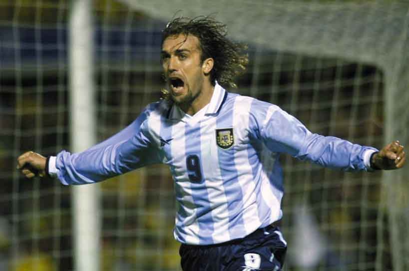 27. Which player is the all time highest goalscorer for Argentina in international football? Gabriel Batistuta