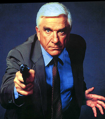 38. 	 What was the name of the character played by Leslie Neilson in the 'Naked Gun' films? Lt Frank Drebin