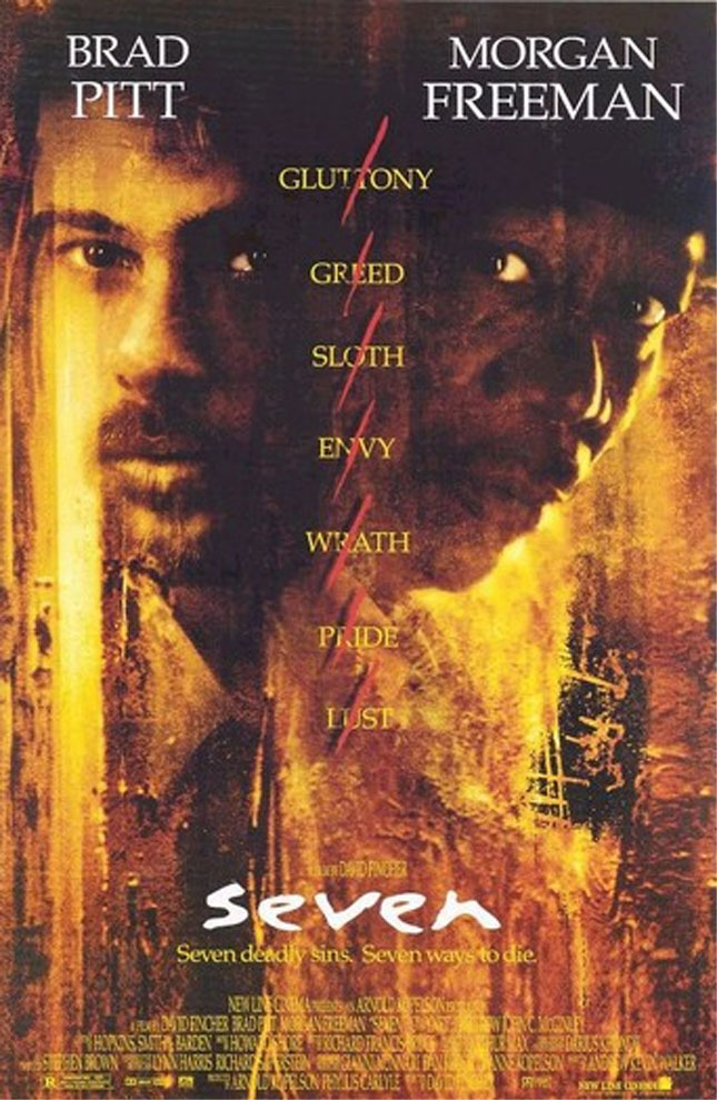 32.  What 1995 crime film about a serial killer starred Brad Pitt and won the MTV Award for best movie that year? Seven