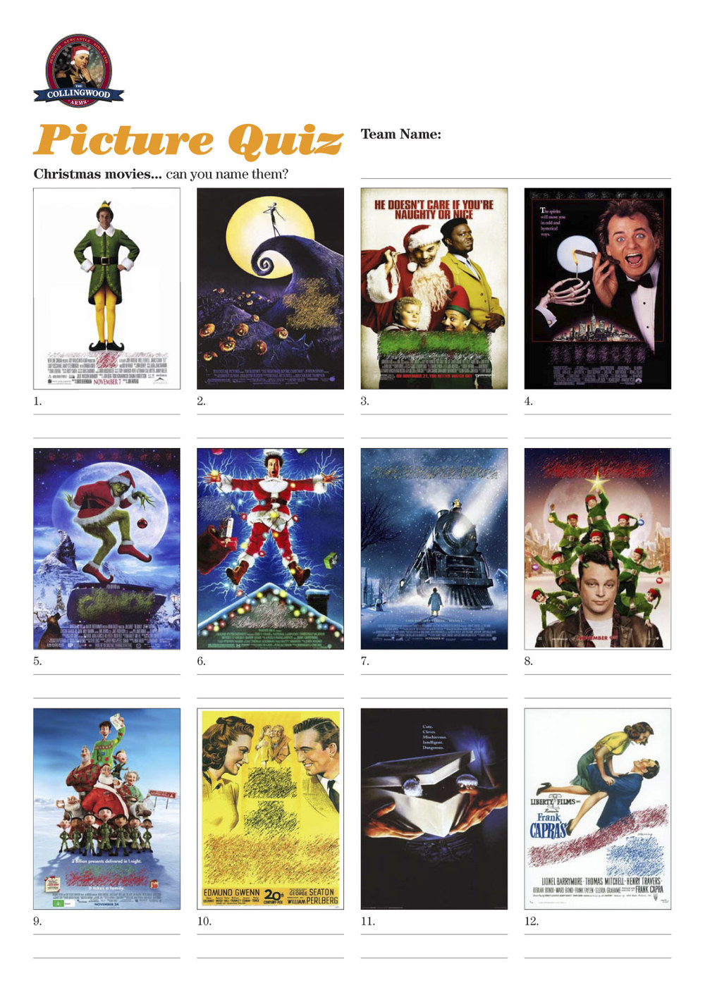 Can you name these Christmas movies from the posters?