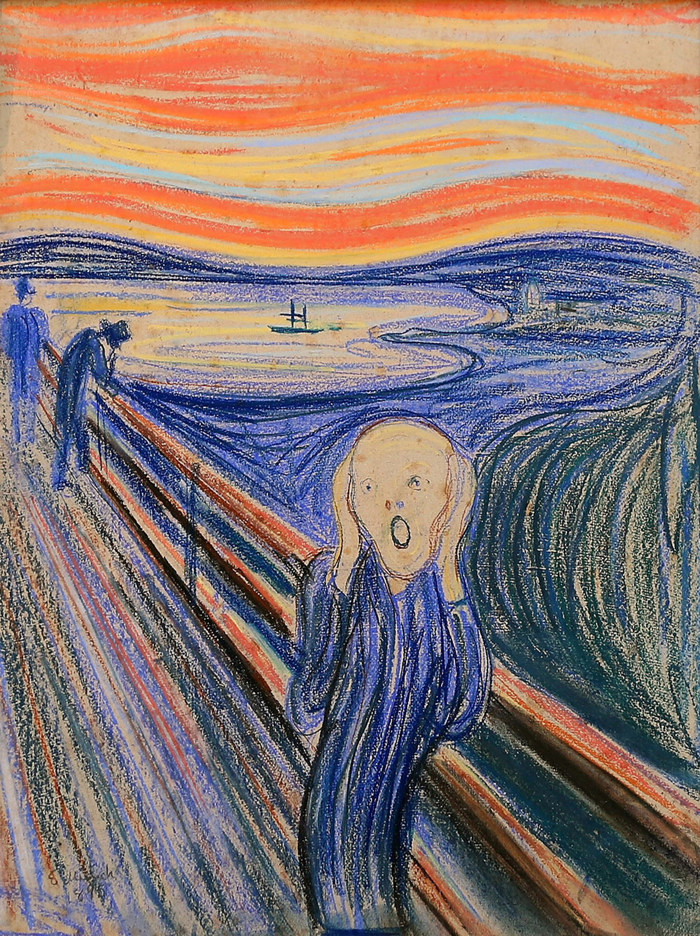 3. In May a pastel version of which famous artwork sold for $120 million in a New York City auction, setting a new world record? A version of 'The Scream', by Edvard Munch