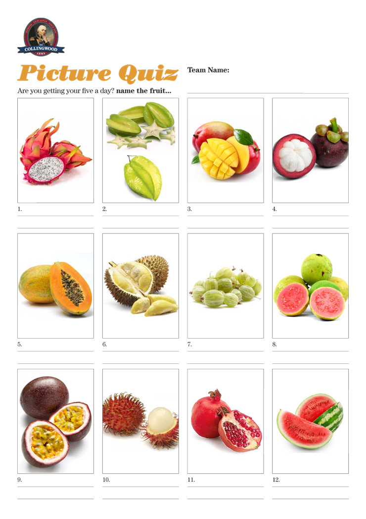 A fruity little picture round.